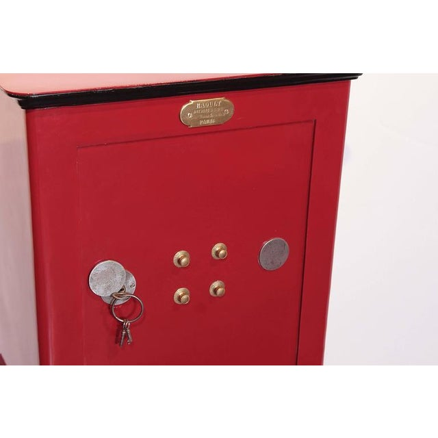 19th Century Parisian Iron Safe Box with Keys & Combination - Image 7 of 10