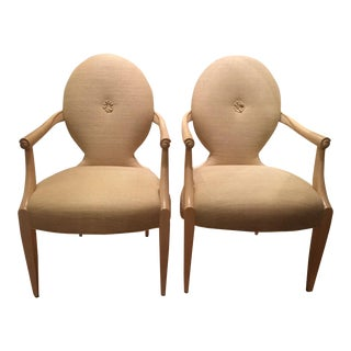 Pair of Donghia Carlyle Arm Chairs