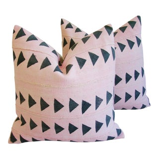 Pink Mali Mud Cloth Pillows - A Pair