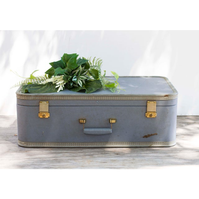 Image of 1950s Lady Baltimore Blue Suitcase