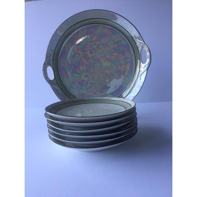Art Deco Lusterware Dessert Set by Otto Grunert - Set of 7 - Image 2 of 5