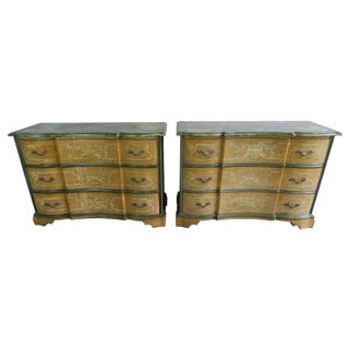 Antique Venetian Distressed Dressers - A Pair