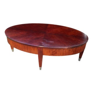 Ethan Allen Oval Wooden Coffee Table