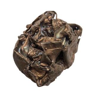 Bronze Crumpled Paper Sculpture 8.1