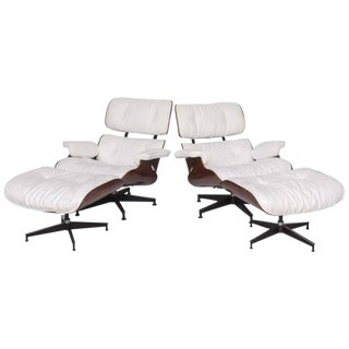 "Pair of 1970s Herman Miller ""Eames"" Chair and Ottoman by Charles Eames"