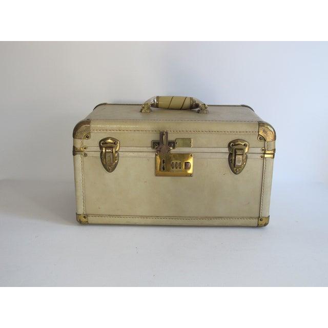 Cream Leather Train Case - Image 3 of 6