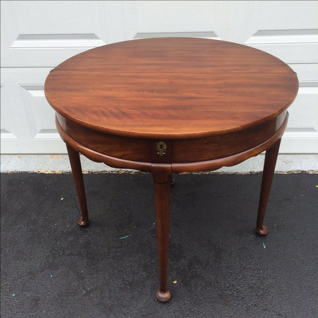 Demilune Mahogony Game Table - Image 3 of 6