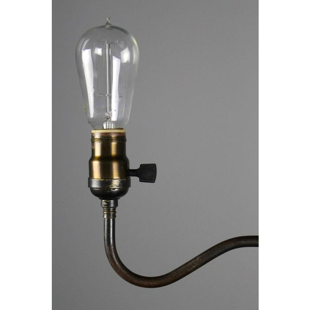 Industrial Converted Gas-Electric Double Pendant - Image 6 of 8