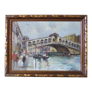 Alfredo Palmero De Gregorio Exceptional Oil Painting of Venice