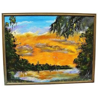 Florida Higwayman Fire-Sky Painting