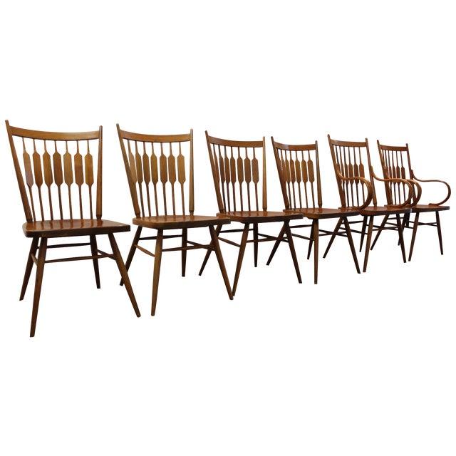 Kipp Stewart Paddle Back Chairs - Set of 6 - Image 1 of 11