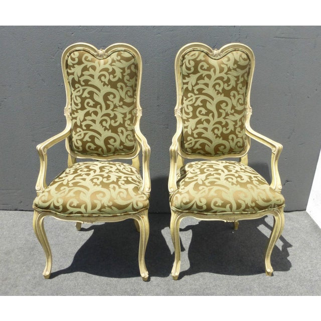 Image of Karges Louis XV Style Dining Chairs - Set of 8