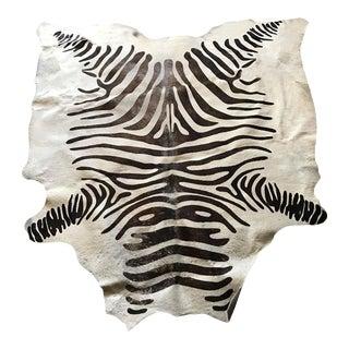 Faux Zebra Hide Rug - 5' X 7'
