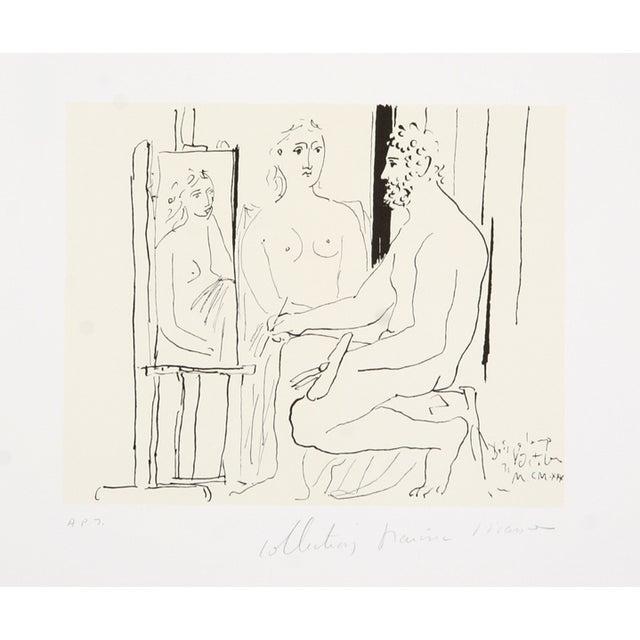 Pablo Picasso, Le Pientre Et Modele, Lithograph - Image 1 of 2