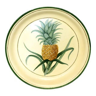 Hand-Painted Pineapple Serving Tray