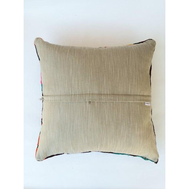 Flax Turkish Kilim Pillow - Image 3 of 3