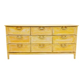 Faux Bamboo & Cane Dresser
