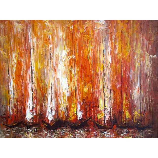 Modernist Abstract Painting - Cityscape/Waterscape - Image 8 of 11