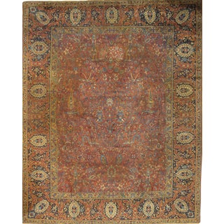 "Antique Pasargad N Y Agra Hand-Knotted Rug - 11'2"" X 14'2"""