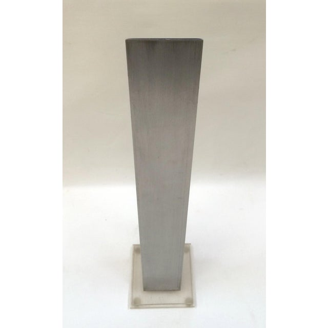 1974 Stainless & Enamel Column Sculpture - Image 6 of 8