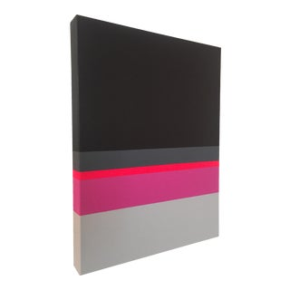 Pink & Gray Modern Painting by Tony Curry