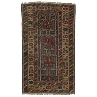 Hand-Knotted Wool Persian Shirvan - 3′5″ × 5′10″