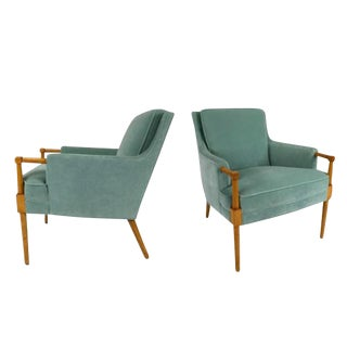 Pair of Lounge Chairs in the Style of Andre Arbus