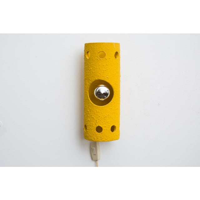 Yellow Ceramic Wall Sconce - Image 2 of 7