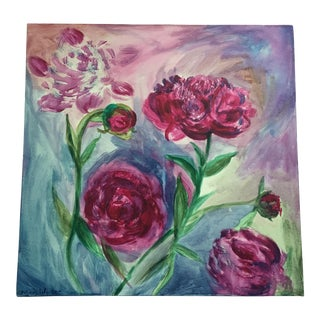 Original Peonies Painting