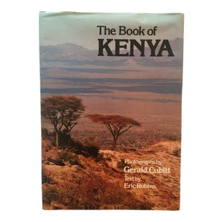 "Vintage ""The Book of Kenya"" Travel Photography Hardcover Book"