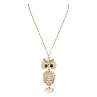 70's Sarah Coventry Owl Pendant Necklace
