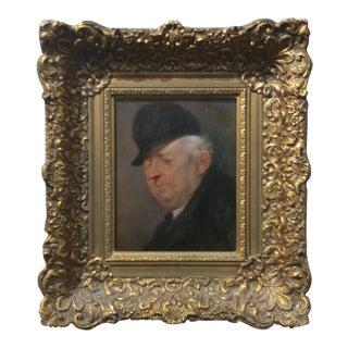 Harbinger Old Scottish Gentleman 19th Century Oil Painting