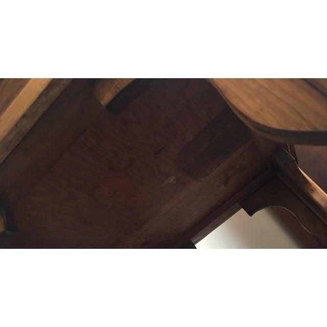 Antique Country Pine Slant Top Children's School Desk - Image 11 of 11