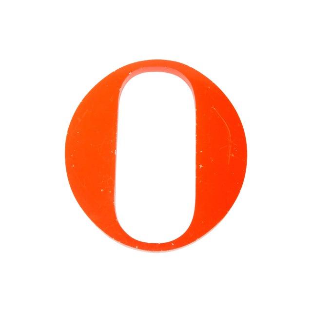 """Steel Orange """"O"""" Letter - Image 1 of 3"""