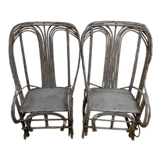 Rustic Twig Rocking Chairs - Pair