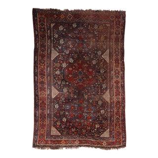 "19th Century Antique Persian Qashqa'i Tribal Rug or Khamseh - 8'6"" x 6'2"""
