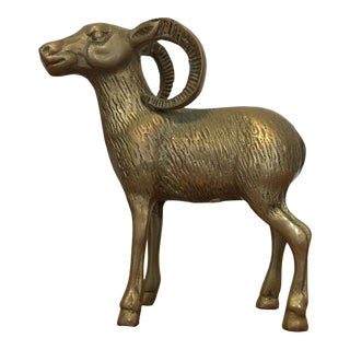 Brass Ram Figure