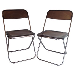 Plia Style Folding Chairs - Pair