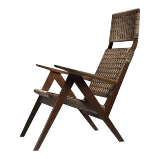 Georg Jensen d High Back Mahogany and Rope Lounge Chair, 1967s