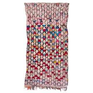 Moroccan Boucherouite Carpet - 4′6″ × 8′5″