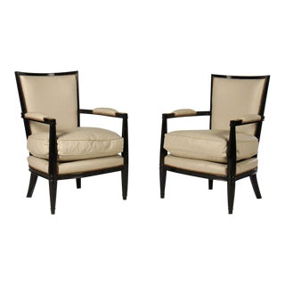 Andre Arbus Style Arm Chairs - a Pair