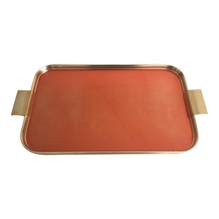 Art Deco Style Copper & Brass Plated Serving Tray