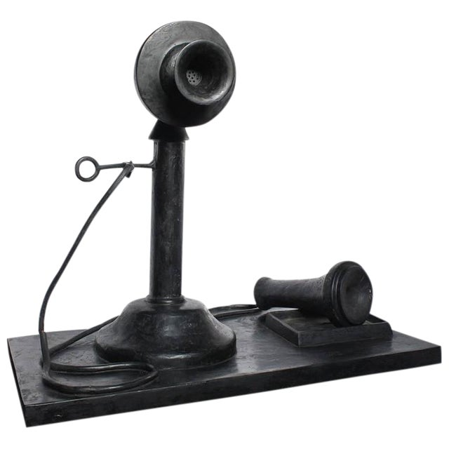 Image of 1970s over Sized Pop Art Telephone Sculpture by Iris Adler