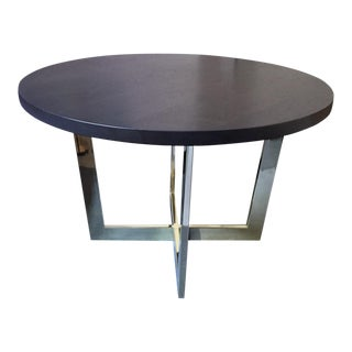Solid Wood Metal Base Dining Table