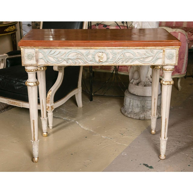 Swedish Paint Decorated Console Tables - A Pair - Image 2 of 8