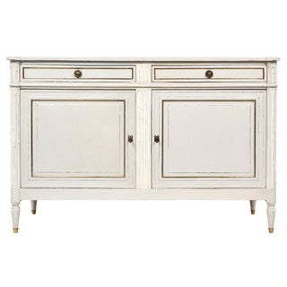 French Antique Louis XVI Style Painted Buffet
