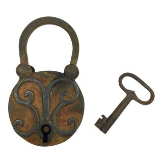 Antique Moroccan Lock & Key