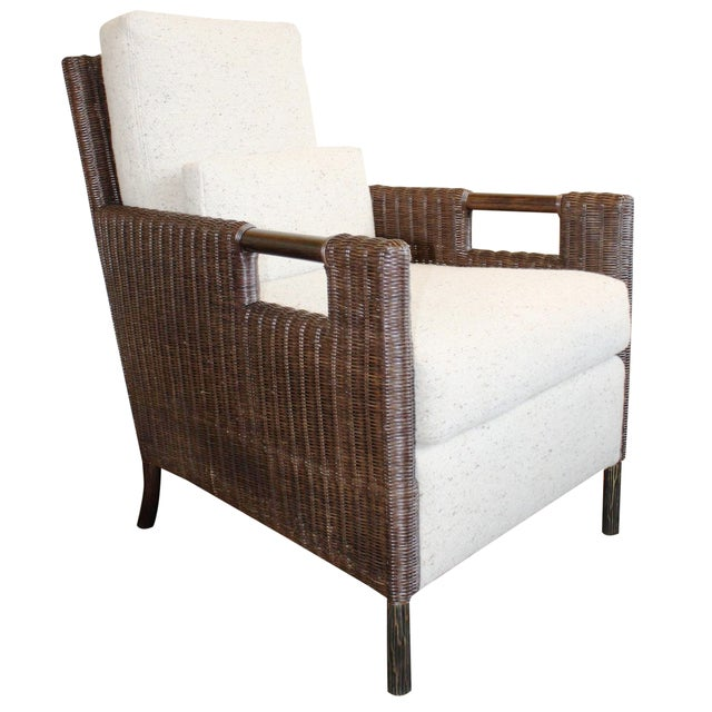 McGuire Thomas Pheasant Woven Core Club Chair - Image 1 of 8