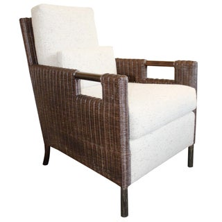 McGuire Thomas Pheasant Woven Core Club Chair