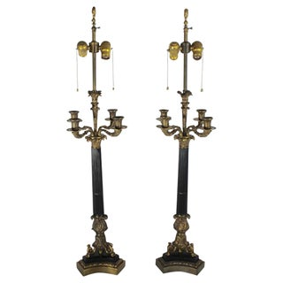 French Candelabra Lamps - a Pair